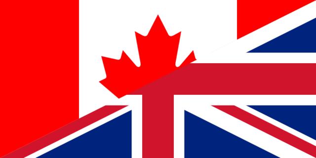 L'involvement Britannique, Canadien