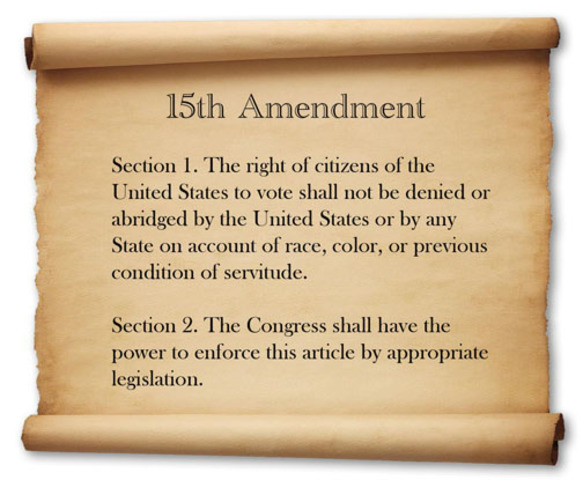 The Fifteenth Amendment guarantees the right to vote for non-whites