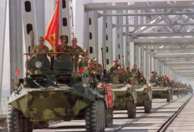 Last Soviet Union Troops Leave Afghanistan