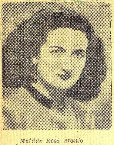 Nasce, em Lisboa, Matilde Rosa Araújo