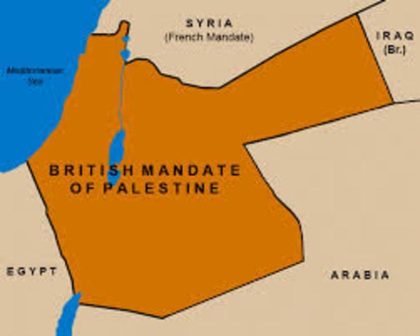 Palestine becomes British Mandate