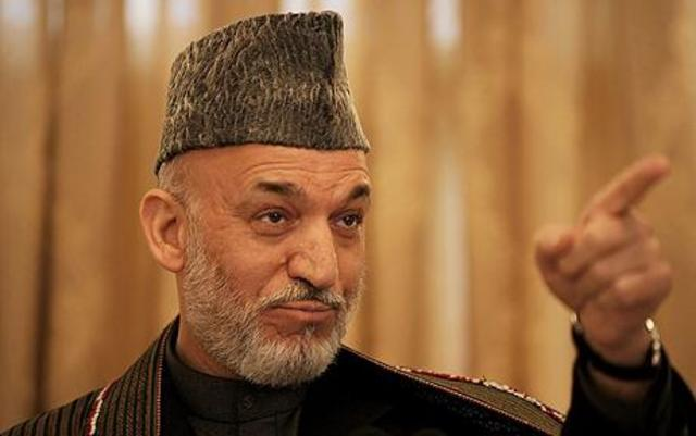 Hamid Karzai is the new leader of the country