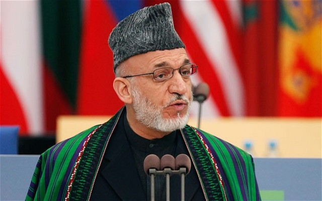 Hamid Karzai is officially president