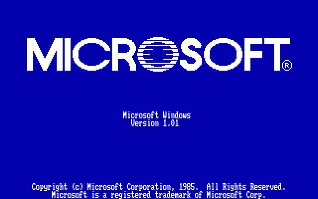 MS-Windows (1.0) sobre MS-DOS