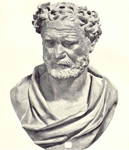 Democritus theorizes Atomic Theory