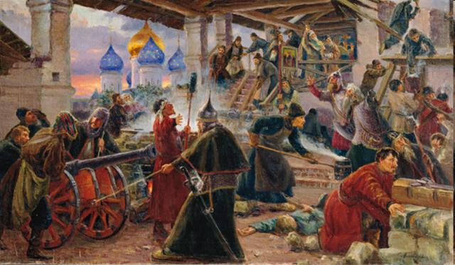 Восстание крестьян и холопов в России под предводительством Хлопка.