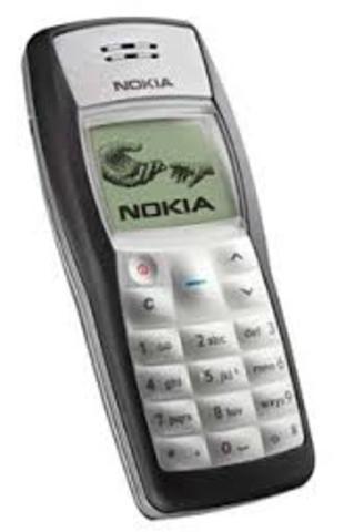 Nokia 1100. Móvil de otra genertación.
