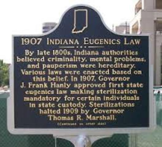 1st Eugenics Sterilization Law
