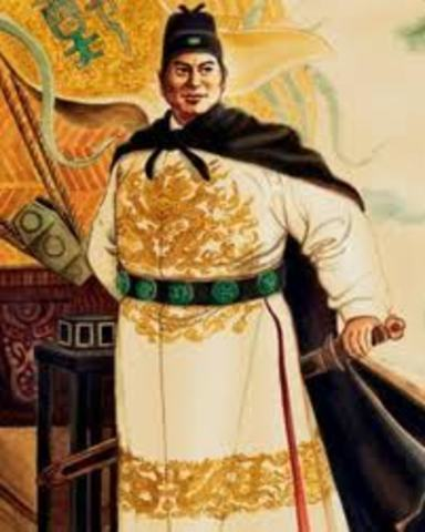 Zheng He takes first Voyage