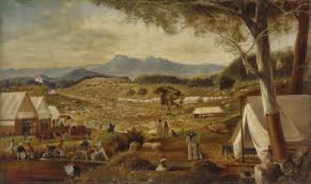 First Gold Rush In Australia