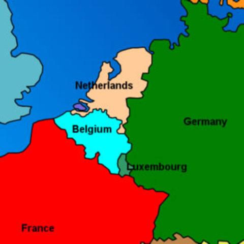 Germans Invade Belgium, Netherlands, and Luxemburg
