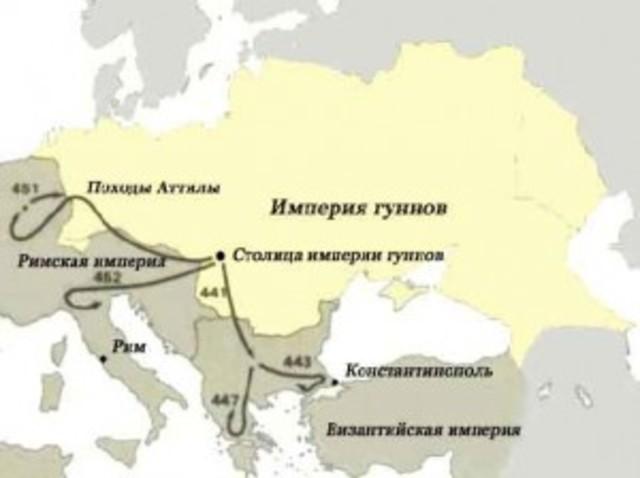 Объединение Атиллой племен гуннов