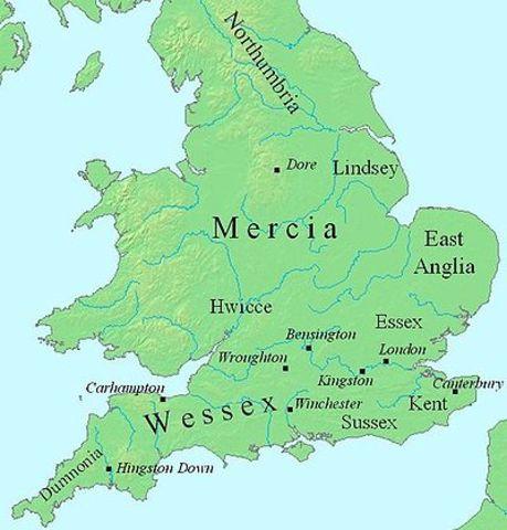 Объединение Эгбертом Великим англосаксонских земель