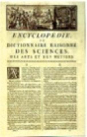 Publicacion de la primera enciclopedia
