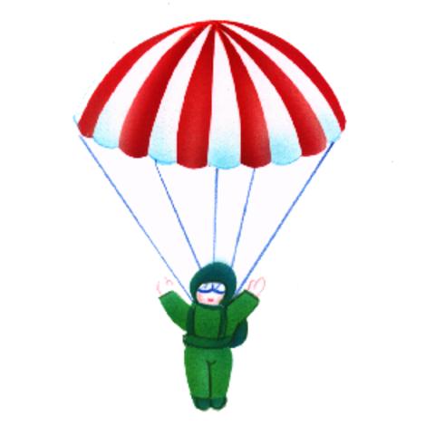 Démonstration sur un saut en parachute