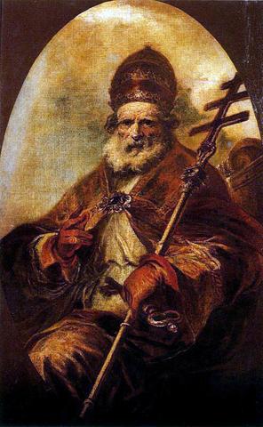 Папа Римский Лев Великий останавливает Аттилу силой слова.