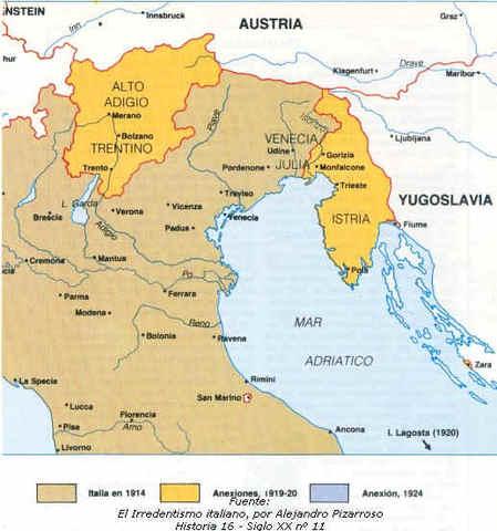 La pugna italo-yugoslava por los territorios del norte del Adriático