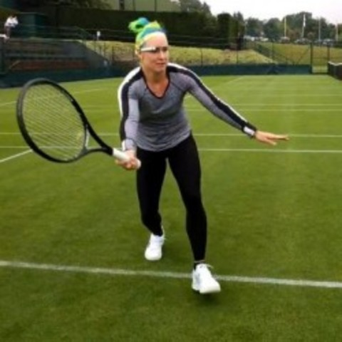 Les Google Glass sur le court de tennis