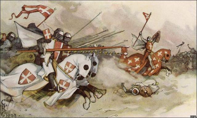 Los Cruzados entraron a la ciudad de Antioquia