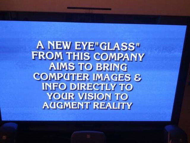 Question pour une Google Glass