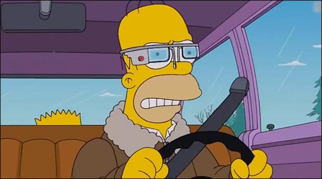 Les Simpsons et les Google Glass