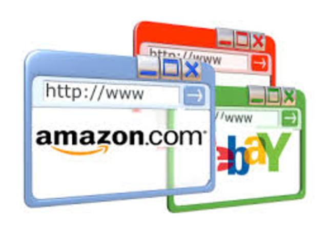 Ebay Amazon y Hotmail
