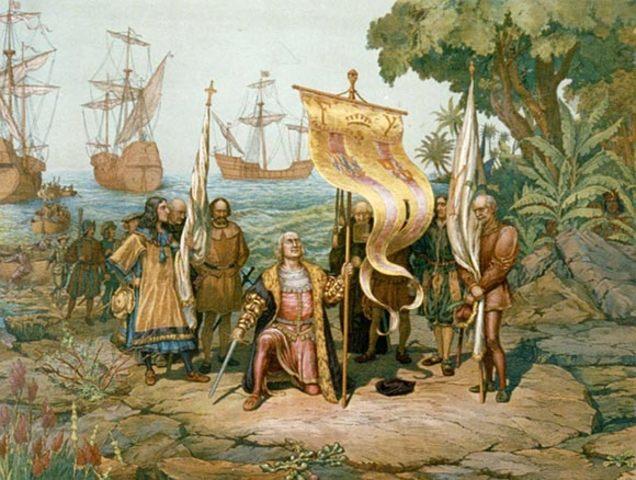 Columbus makes first Voyage