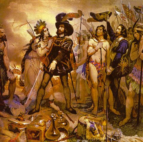 Cortes conquers Aztec Empire