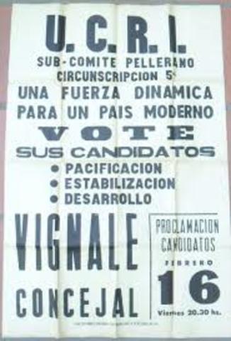 UCRI - GOBIERNO FRONDIZI