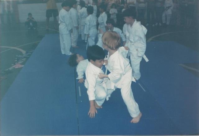 Apresentação de judo do Arthur