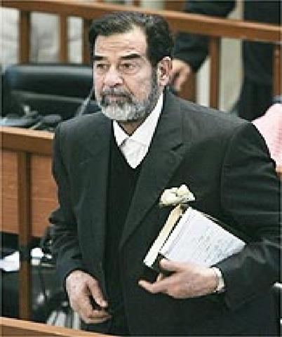 Política-Ex-ditador Saddam Hussein é condenado a morte