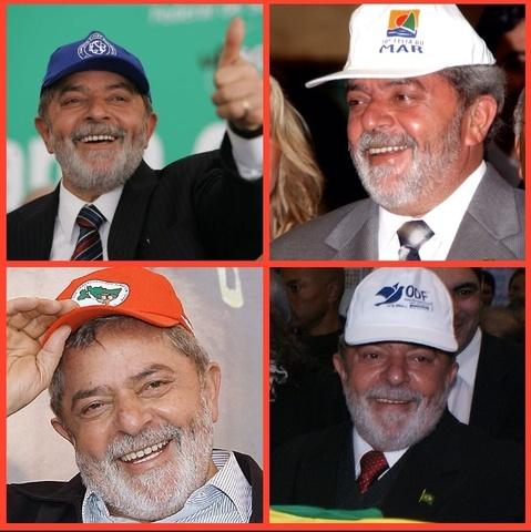 Presidente Lula faz coleção de bonés.