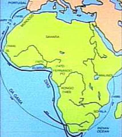 Dias reaches southeast Africa