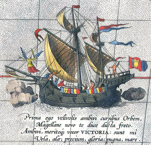The Vittoria completes its circumnavigation of the globe.