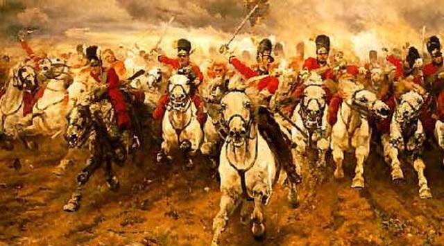 Derrota definitiva de Napoleón en la batalla de Waterloo.