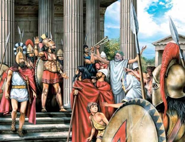 Растущее соперничество между Афинами и Спартой