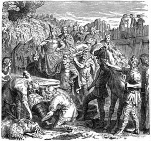 Первая попытка короля вестготов Алариха вторгнуться в Италию потерпела поражение от римского войска.