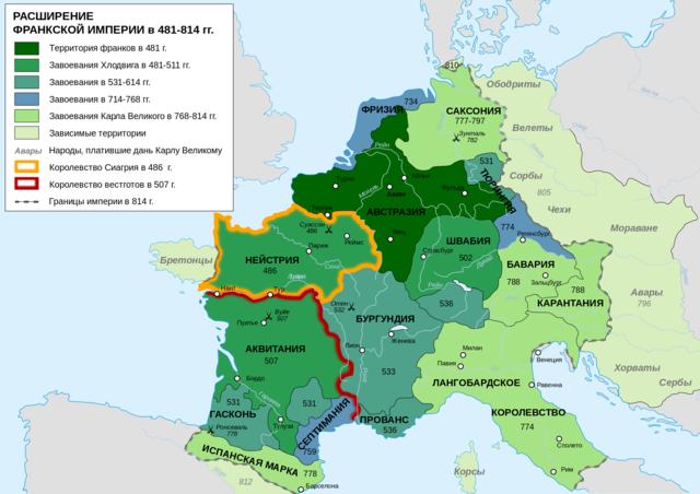 Образование Франкского государства