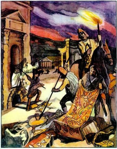 Западные готы нарушают границу Римской империи