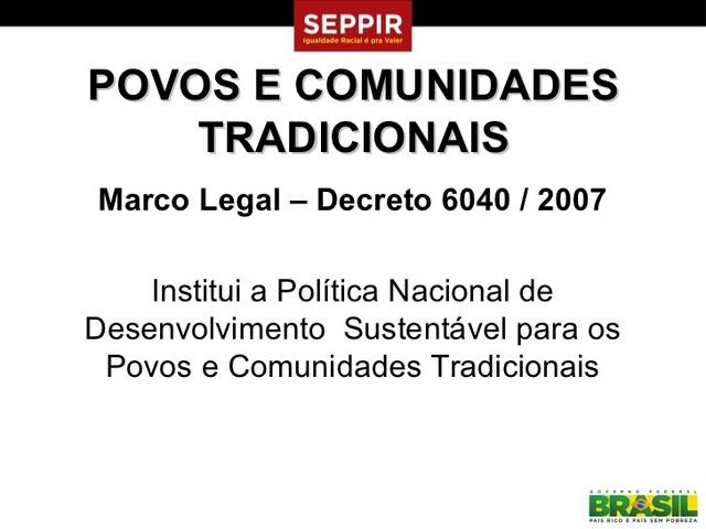 Decreto n 6.040