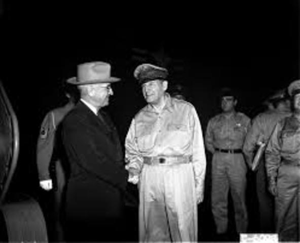 MacArthur Rebukes Truman