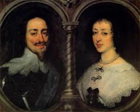 Charles I marries Henrietta of France, a Catholic princess