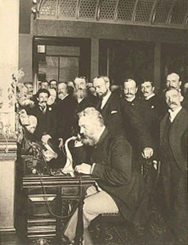 The first patented electric telephone