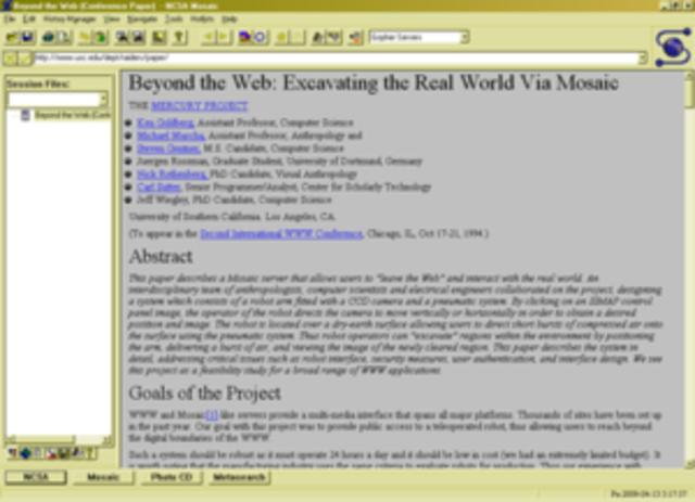 Th mosiac web browser