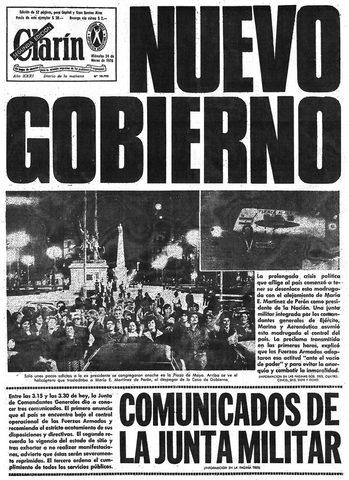 """Golpe de estado """"Proceso de Reorganización Nacional"""""""