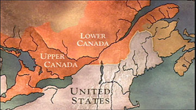 The BNA establishes upper and lower Canada
