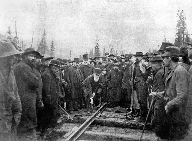 The Canadian pacific railway was completed