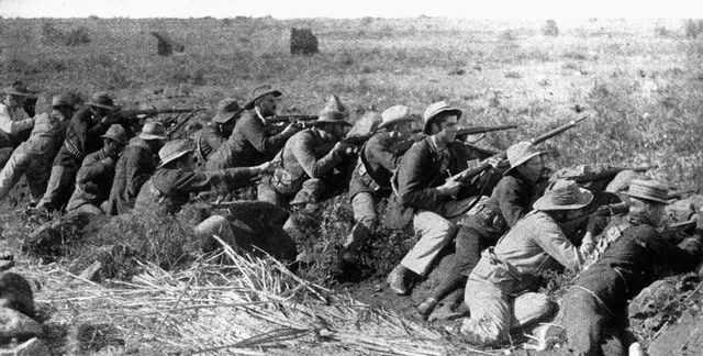 the Boer war (British against Africa)
