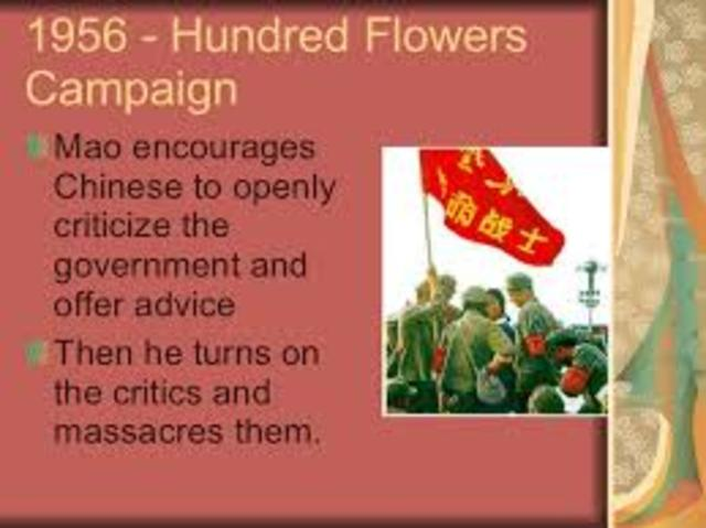 Hundred Flowers Campaign Ends