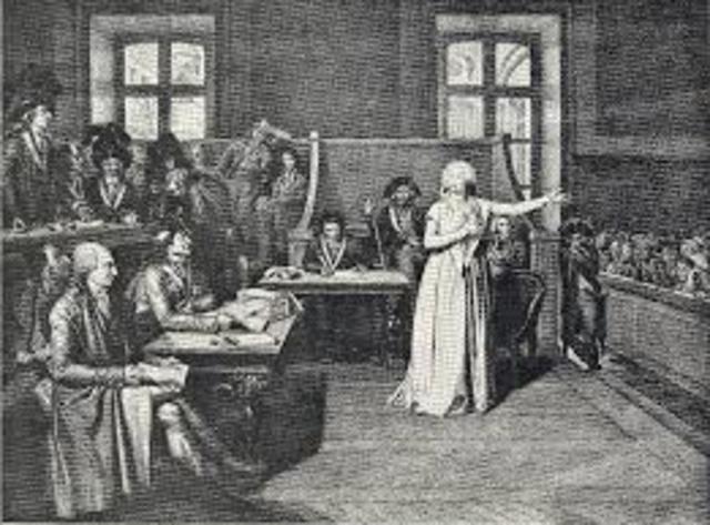 Creación del Tribunal Revolucionario y el Comité de Salvación Pública.